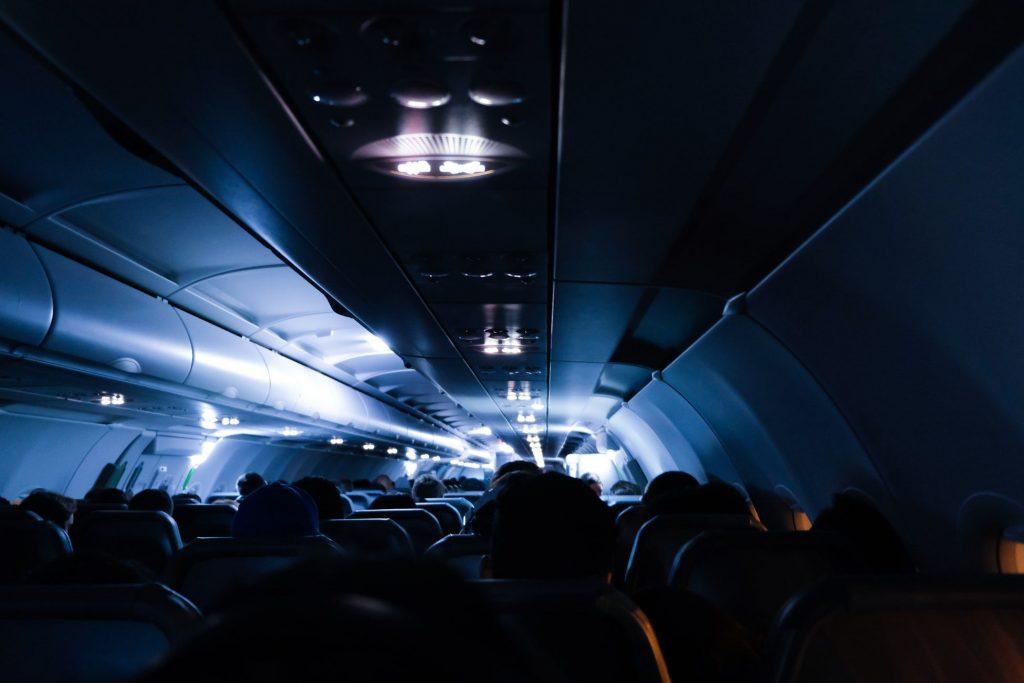 interieur d'un avion